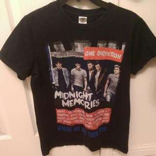 One Direction Where We Are Official Tour Shirt