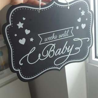 Chalkboard decor for baby shower