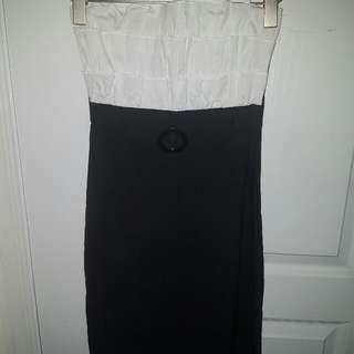 Black And White Pencil Skirt Dress