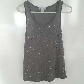 Cotton On Grey Crystal Tank Top