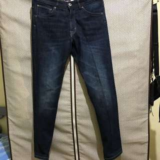 H&M原色牛仔褲 腰圍28 褲長95