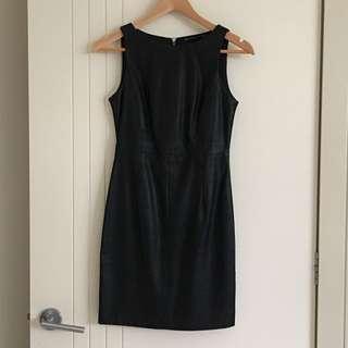 Zara TRF LBD Leather Look