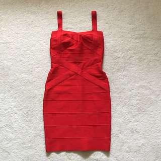 Boutique Red Bodycon Cocktail Dress Size AU8