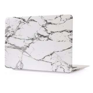 White Grey Marble Pattern Hard Case Cover for Macbook Air/Pro