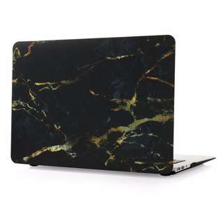 Black Gold Marble Pattern Hard Case Cover for Macbook Air/Pro