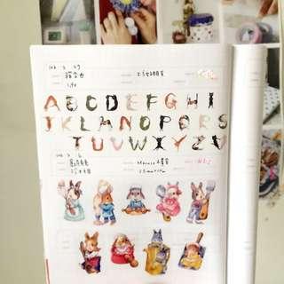 貓字母 紙膠帶分裝