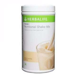HERBALIFE HEALTHY MEAL NUTRITIONAL SHAKE MIX FRENCH VANILLA FREE SHIPPING !