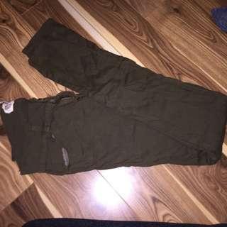 Green Army-Tight Pants