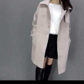 Zoeys粉色內鋪棉大衣