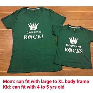 Mom & kid terno shirt