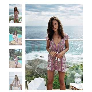Arnhem Kauai Mini Dress Pearl