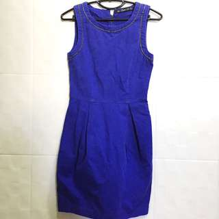Zara Blue Trafaluc Dress SizeS