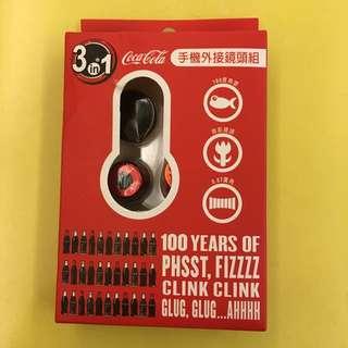 可口可樂 手機外接鏡頭組 3 in 1