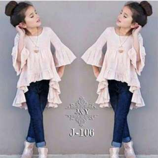 Top Rimple And Jeans Setelan