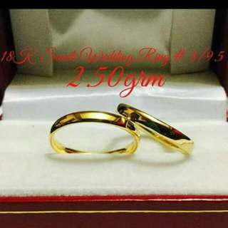 18k Saudi Gold Wedding Ring