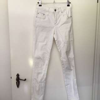 Nobody Demon White Jeans Size 26