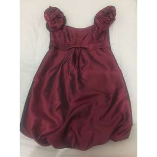 Forme Burgundy Red Bubble Dress