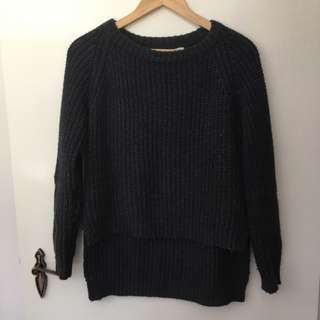 Faithful The Brand Dark Grey Knit Jumper