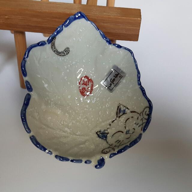 質感陶瓷可愛貓咪醬油盤/沾料盤😻10個入