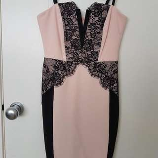 Lipsy Lace Trim Body on Dress UK Size 10