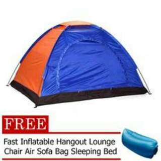 6PERSON DOME CAMPING TENT WITH FREE AIR SOFA BAG.(SLEEPING BED)