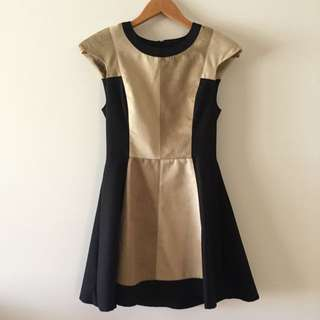Cameo Black & Brown Dress