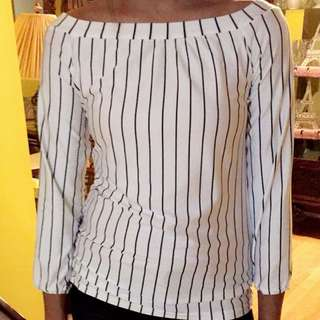 Black/White Stripes Top