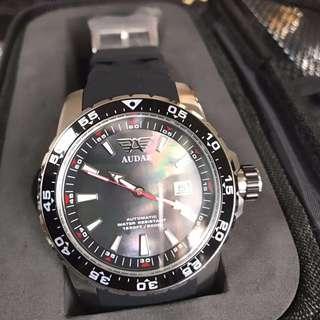 全新罕見用貝殼面(Mother-of-Pearl)造錶既面既深潛500米Audaz Scuba Master 大錶面