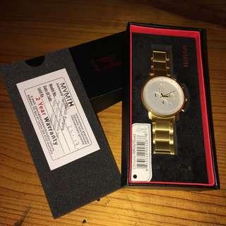 Men's Gold Chronograph MVMT Watch