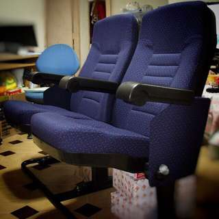 Fabric Theatre Twin Seats (120cm) - ALMOST LIKE NEW!