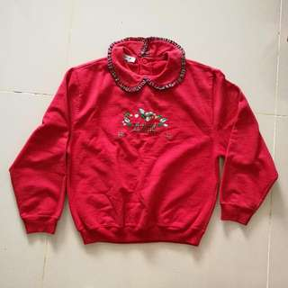 Made In Portugal - Girl's Red Sweater