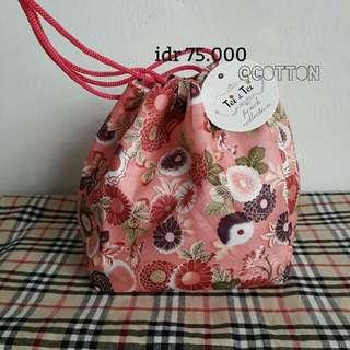 Traditional Drawstring Bag For Yukata / Kimono