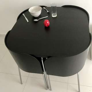 IKEA Dining Set Bonana / Fusion - Black Ash with 4 chairs - Cost $465 Must Clear