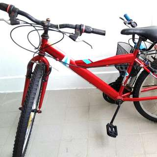 Dura bicycle with new child seat