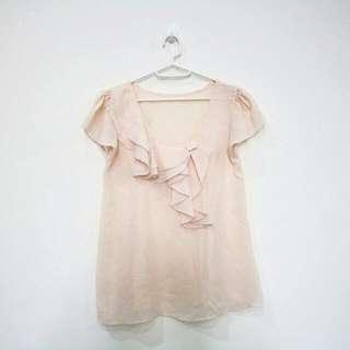 Peach Layer Top