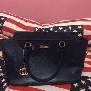 Navy Gucci Bag