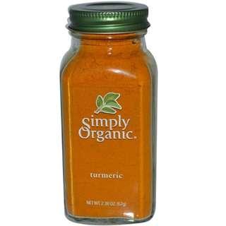 Clearance Brand New Simply Organic Turmeric Powder 67g (Expired Dec 2019)