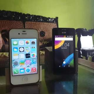 iPhone 4 8Gb + Acer Z220