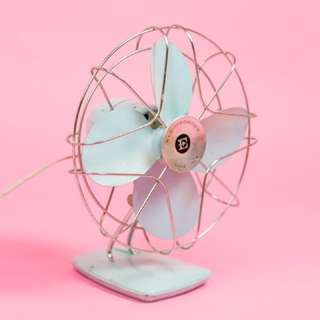 Vintage Blue Metal Fan
