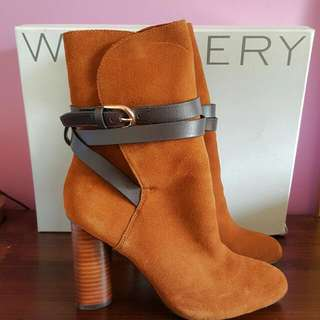 WITCHERY Leather Suede Tan Boots $269.95 BNWT!!! Size 39