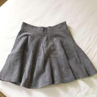 Zara Trafaluc Navy Mini Stripe Skirt