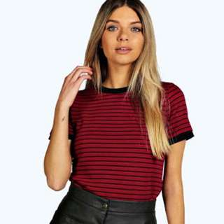 Boohoo Striped T Shirt