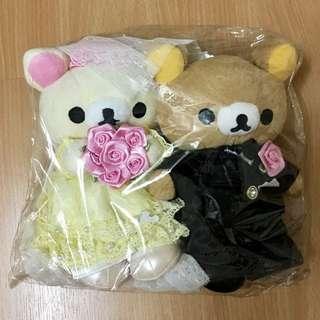Rilakuma Wedding Bear Set