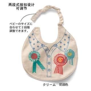 🎀(全新) 👶新生兒/寶寶/嬰兒可愛圍兜兜口水巾吃飯巾飯兜圍嘴🎀徽章🏅款