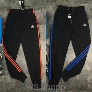 Adidas 三線橘邊/藍邊 區域限訂款 縮口褲 棉褲 運動褲 健身褲 Adidas 小腳褲 長褲 GD bigbang