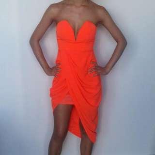 Morning Mist Drape Dress Size 6