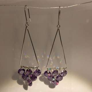 Purple Blinxx Earrings