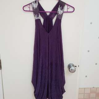 Purple Shiny Dress Freesize
