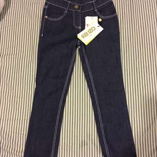 Kenzo全新女童牛仔褲 size:6A
