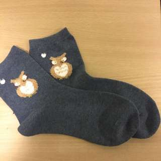 1 Pair Of Owl Socks